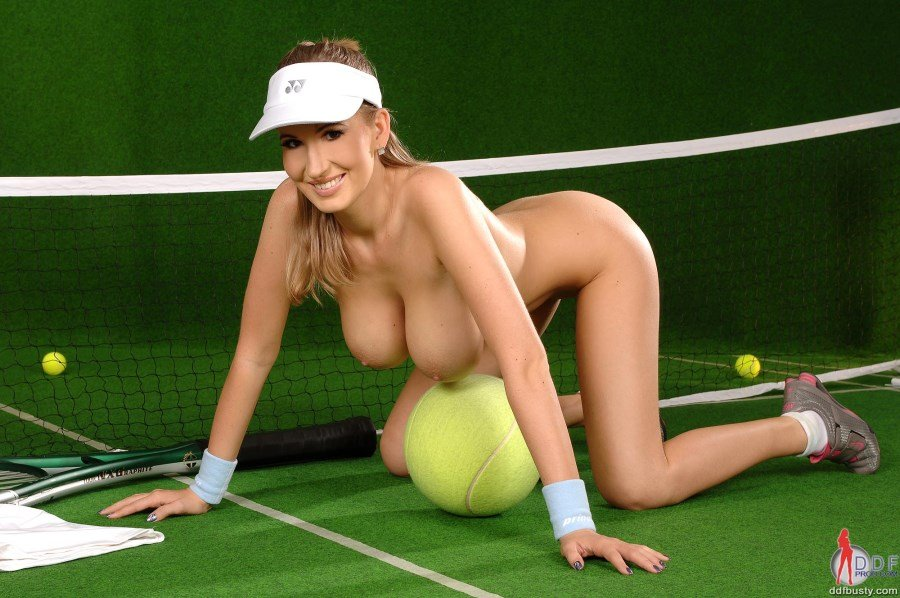 Nude female sports players