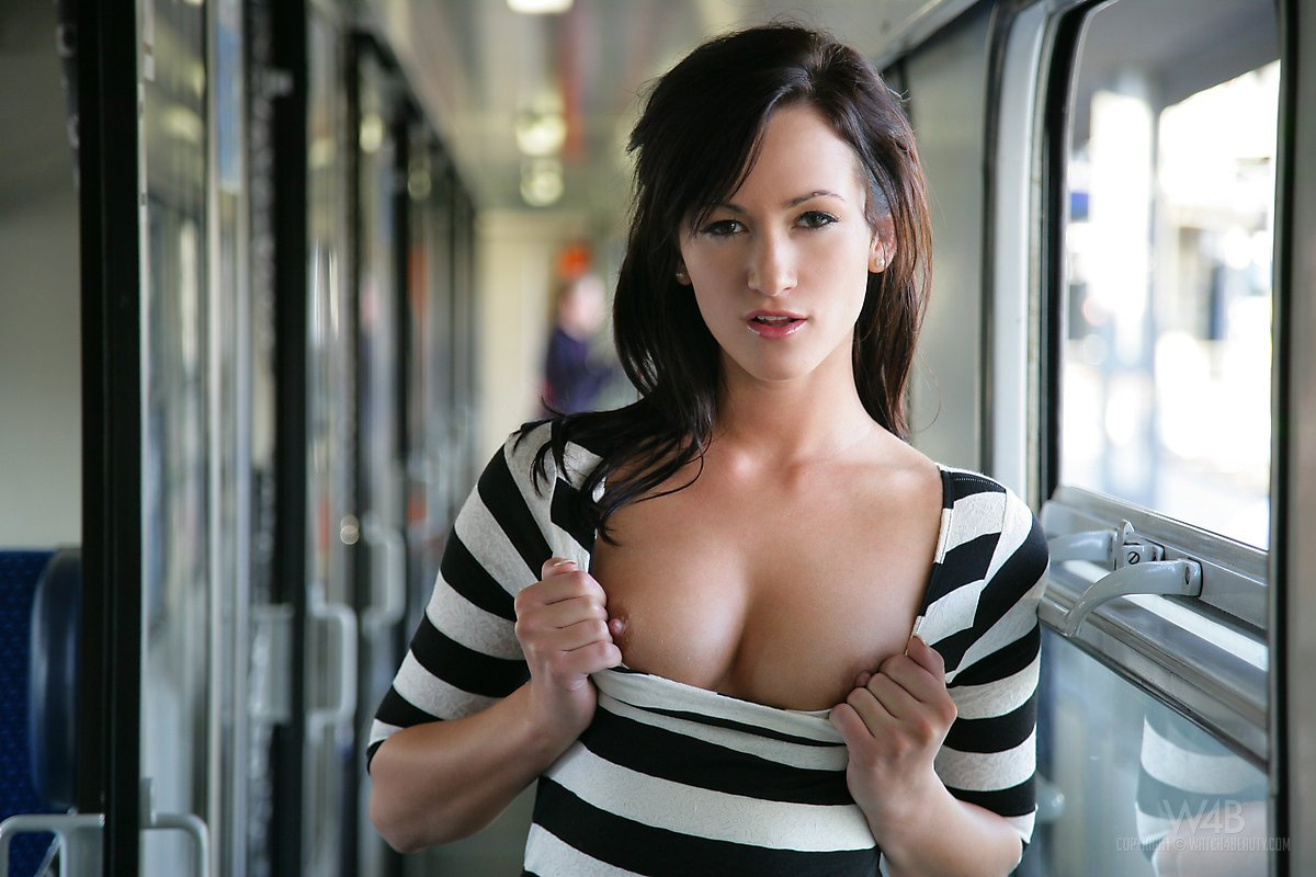 Tits on the train