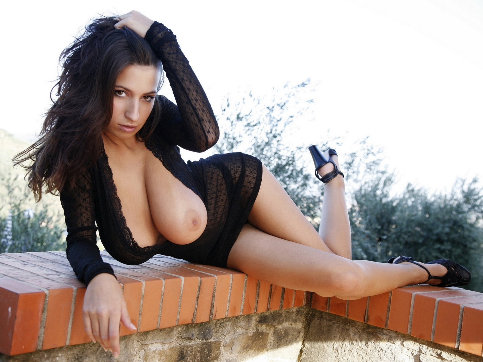 Brunettes with beautiful tits