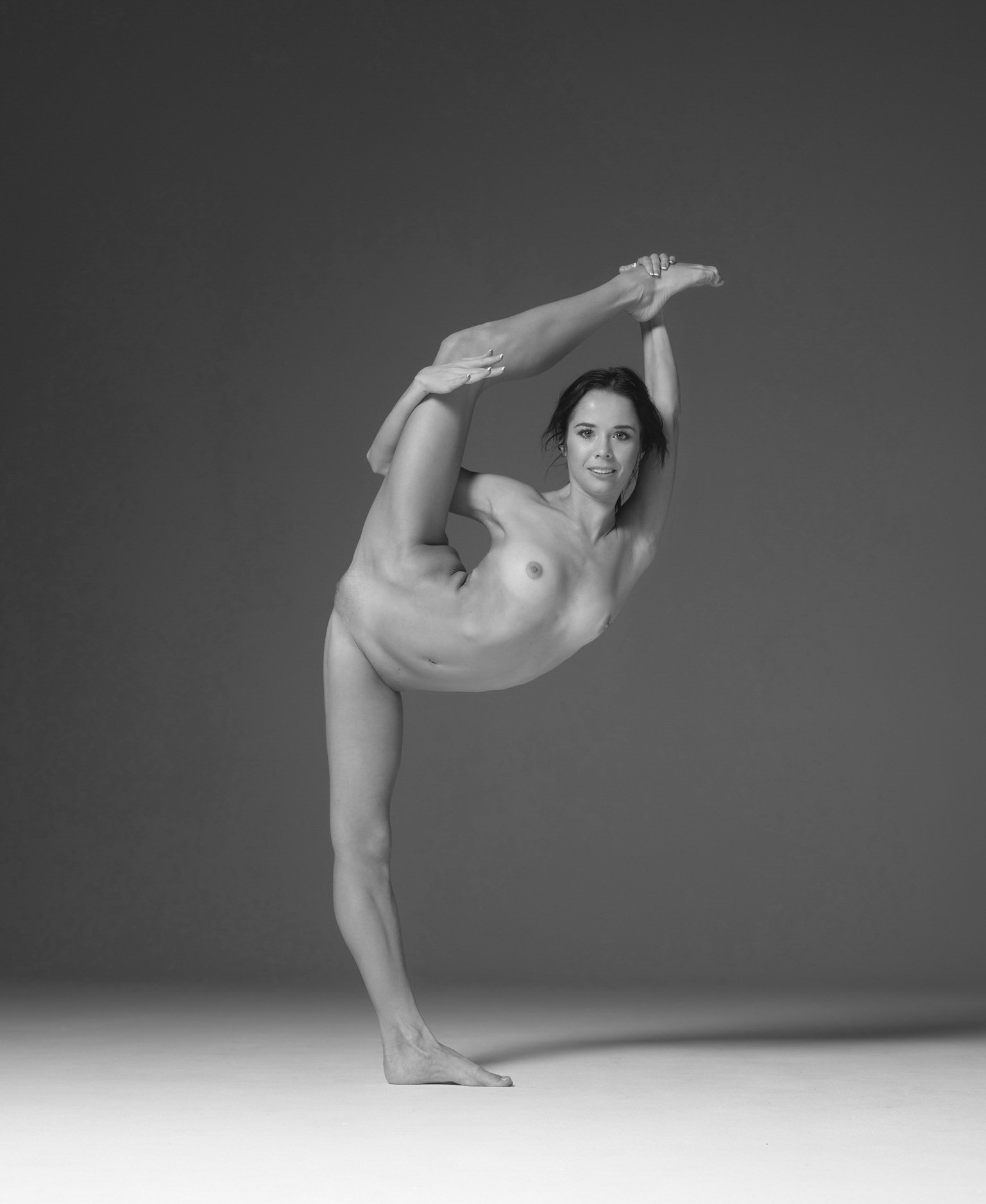 Nude mongolian contortionist