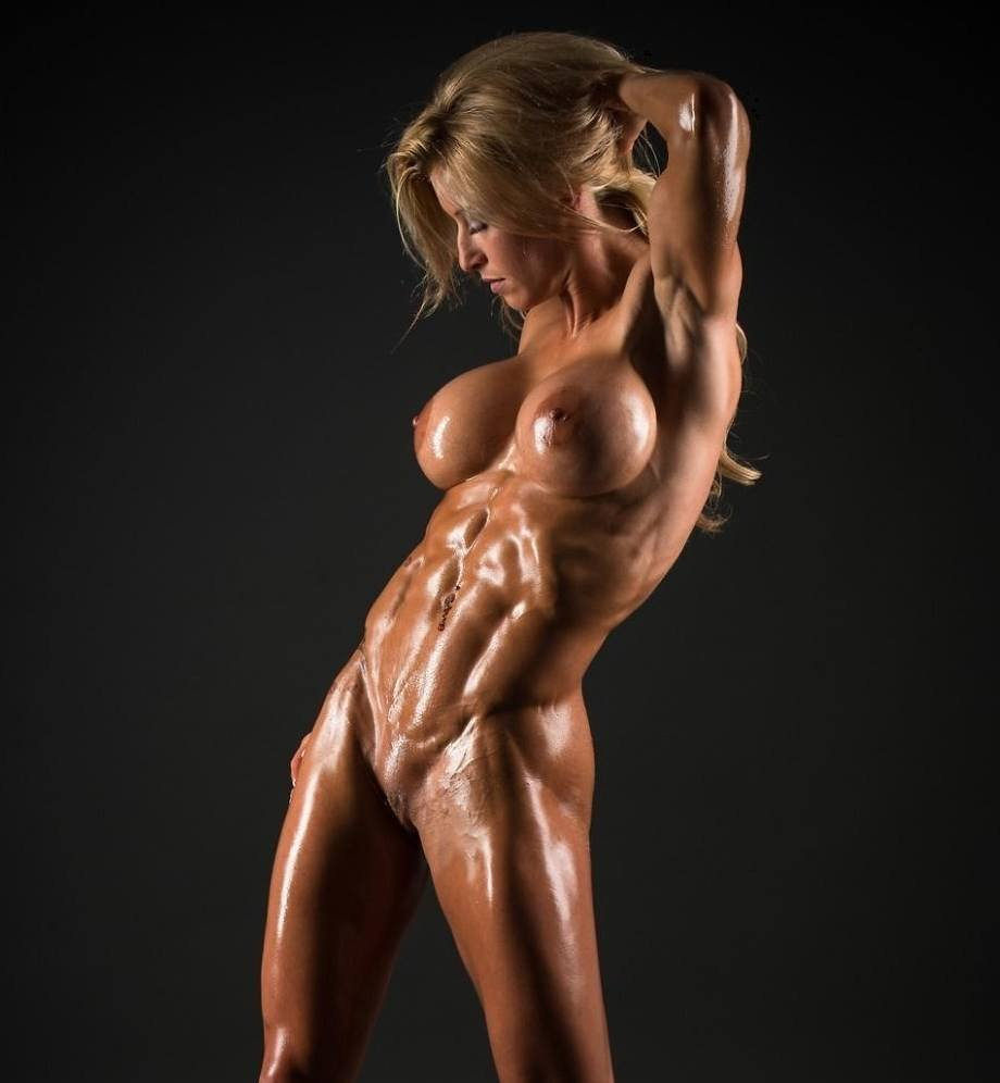 Naked female body builder